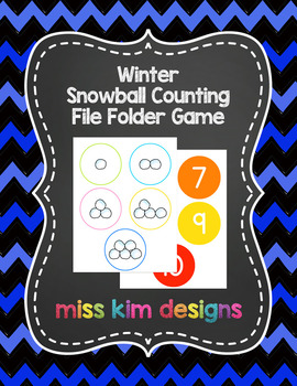Snowball Counting File Folder Game for Special Education
