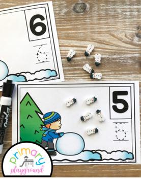 Snowball Counting Mats 1- 20