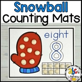 Snowball Counting Mats #1-20