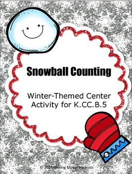 Snowball Counting: Winter-Themed Math Center Activity for