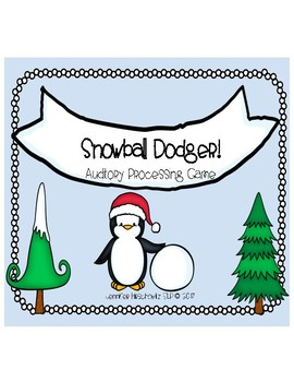 Snowball Dodger! Auditory Processing Game