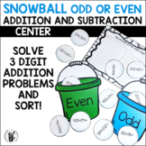 Even or Odd Snowballs Center