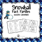 Snowball Fact Families Math Center Game