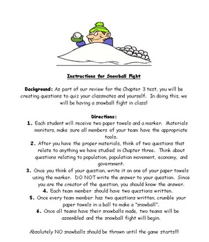 Review Game: Snowball Fight