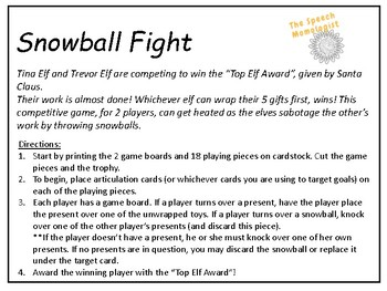 Snowball Fight: Speech Therapy Game