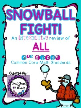 4th Grade Common Core Math Review for All Standards (Snowb