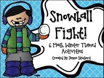 Snowball Fight (6 Winter Themed Math Activities)