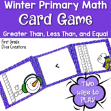 Winter Activities {A Printable Winter Card Game for Numbers in Base Ten}