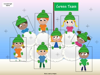 Sight Word Game - Snowball Fight