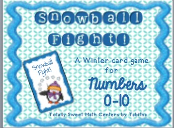 Snowball Fight! A Winter Card game of Comparing Numbers 0-10