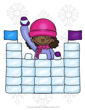 Snowball Fight! A Winter Math Game Freebie