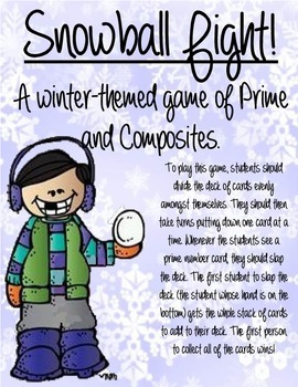 Snowball Fight!  A winter-themed prime and composite game.