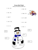 Snowball Fight- Adding and Subtracting Decimals