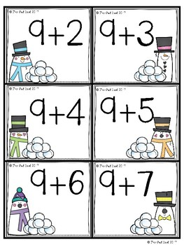 Snowball Fight Addition Facts Partner Game