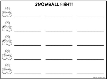 Snowball Fight Alphabet and Sight Word Review