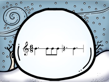 Snowball Fight: An Interactive Rhythm Pattern Game 6/8 Edition