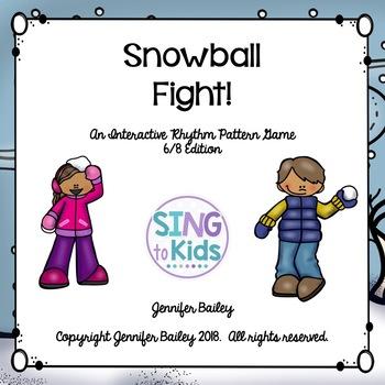 Interactive Rhythm Pattern Game: Snowball Fight {6/8 Edition}