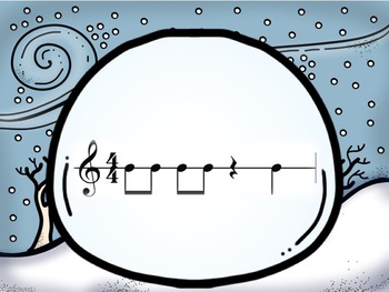 Snowball Fight: An Interactive Rhythm Pattern Game 4/4 Edition