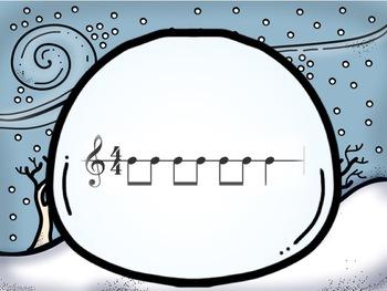 Interactive Rhythm Pattern Game: Snowball Fight {4/4 Edition}
