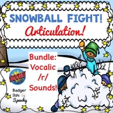 Snowball Fight Articulation Boom Cards:  Vocalic /r/ Bundle
