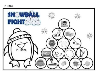 Snowball Fight - Articulation - Early Developing Sounds