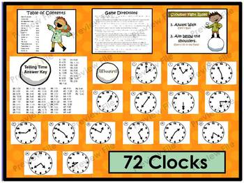 Math Games Bundle: Fractions, Rounding, Measurement, and Telling Time