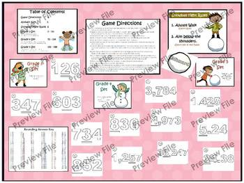 """Math Games Bundle """"Fractions, Rounding, Measurement, and Telling Time"""""""