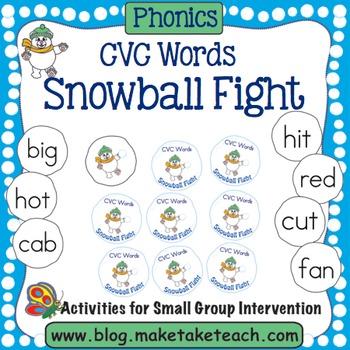 CVC Words - Snowball Fight