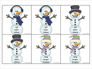 Snowball Fight!  Comparatives and Superlatives Activities