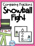 Snowball Fight Comparing Fractions Partner Game