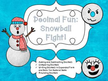 Snowball Fight: Decimal Centers and Activities for Grades 4 and 5