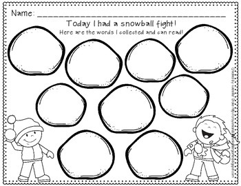 Snowball Fight!  Editable 'Move and Learn' Around the Room Winter Fun!