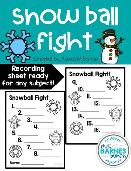 Snowball Fight- Engaging Activity for all grades and subjects!