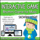 Interactive Rhythm Game - Snowball Fight Winter-themed Rhy
