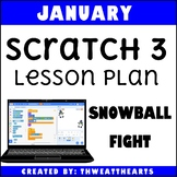 January Scratch 3 Programming Lesson Plan - Snowball Fight