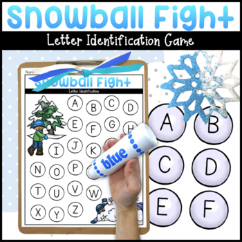 Snowball Fight | Letter Identification Game