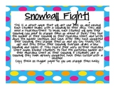 Snowball Fight Math Freebie
