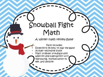 Snowball Fight Math Practice