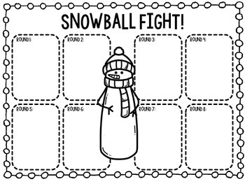 Snowball Fight--Math Review Game