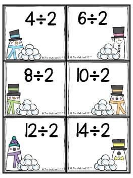 Snowball Fight Division Facts Partner Game