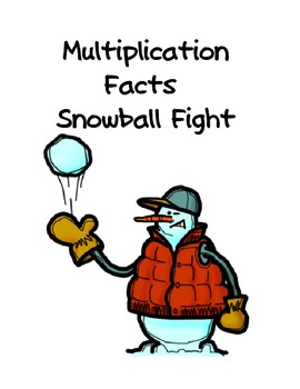 Single Digit Multiplication Game: Snowman