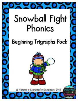 Snowball Fight Phonics: Beginning Trigraphs Pack