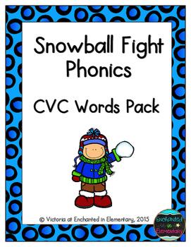 Snowball Fight Phonics: CVC Words Pack
