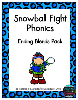 Snowball Fight Phonics: Ending Blends Pack