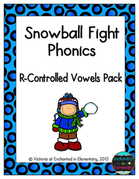 Snowball Fight Phonics: R-Controlled Vowel Words Pack