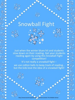 Snowball Fight Reading Challenge