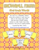 Snowball Fight Reading Game {First & Second Grade Dolch Sight Words}
