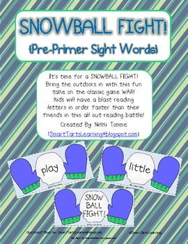 Snowball Fight Reading Game {Pre-Primer & Primer Dolch Sight Words}
