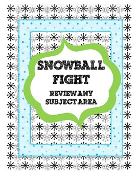 Snowball Fight! Review Any Subject