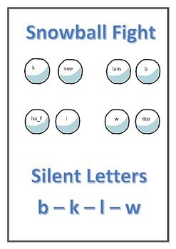 Snowball Fight - Silent Letters (b - k -  l - w)